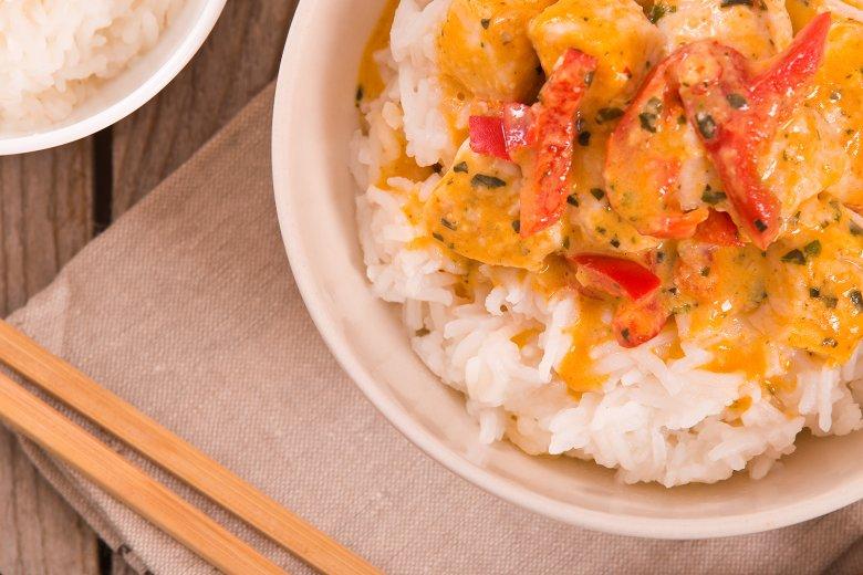 Hähnchen-Curry mit Ananas