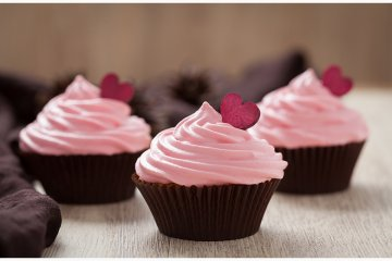 Valentinstag-Cupcakes
