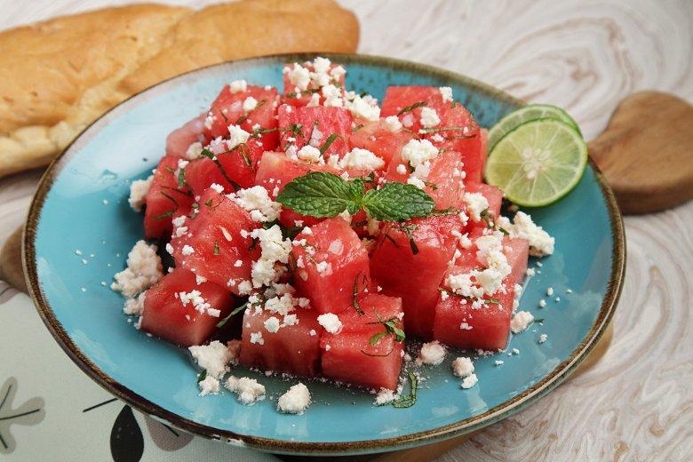 Einfacher Wassermelonen-Salat
