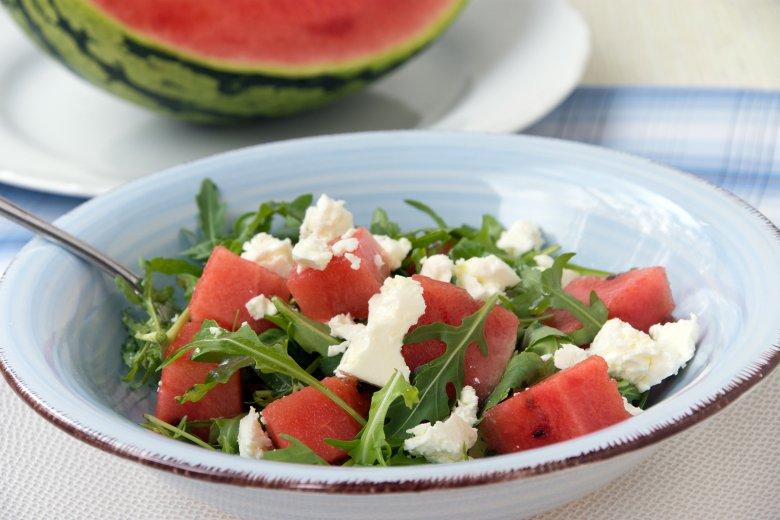 Wassermelonensalat mit Rucola