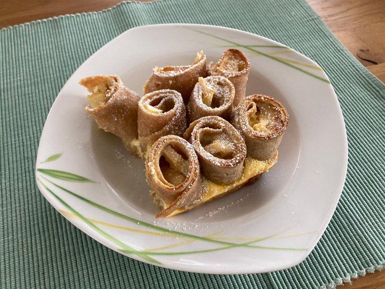 Apfel-Pfannkuchenauflauf