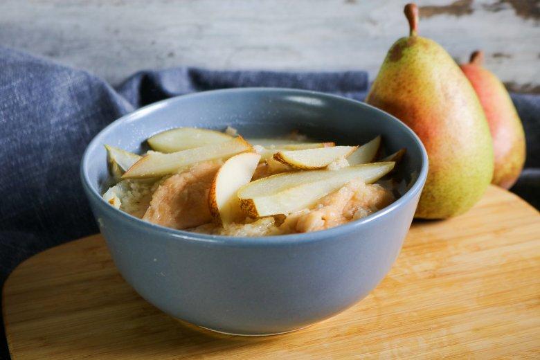 Birnensuppe mit Klacker