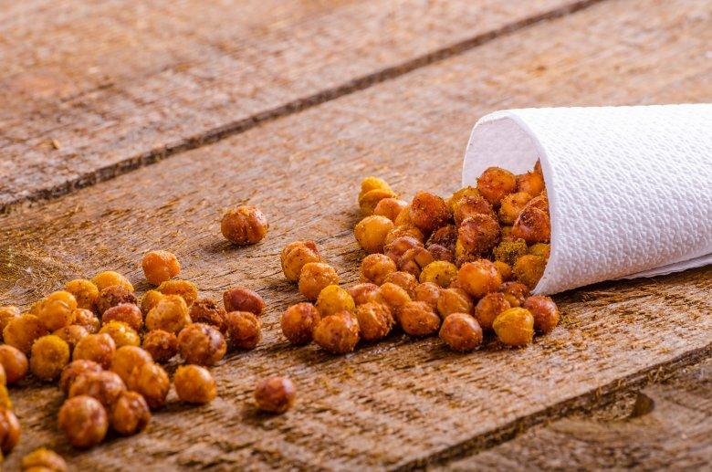 Geröstete Kichererbsen zum Snacken