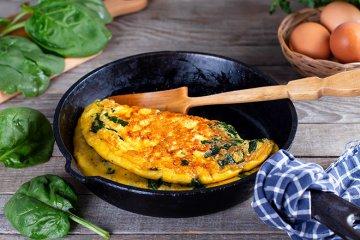Omelett mit Spinat