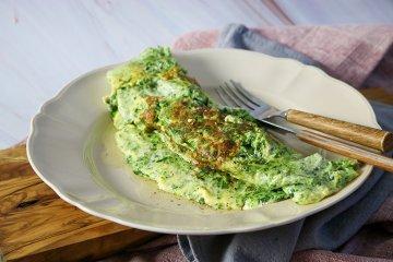 Omelett mit Rahmspinat