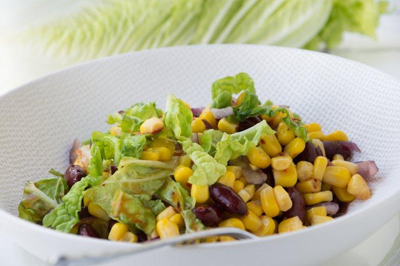 Scharfer Bohnen-Mais-Salat