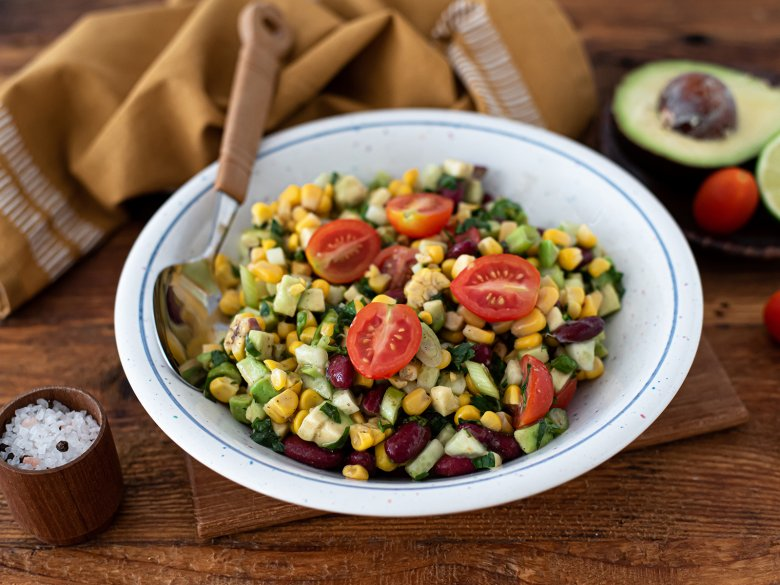 Kidneybohnen-Mais-Salat