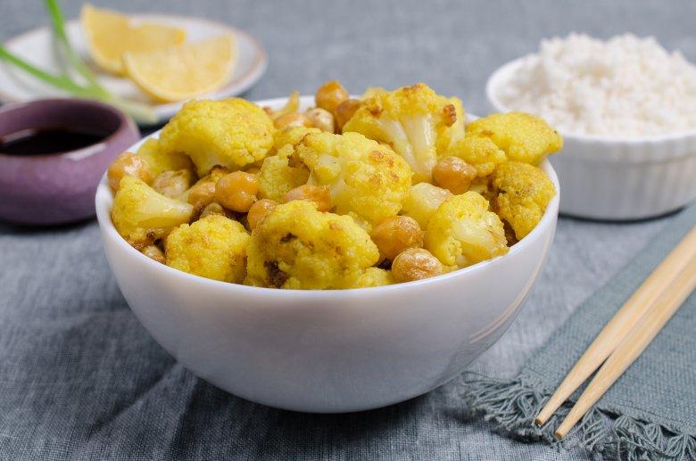 Indisches Kichererbsen-Blumenkohl-Curry