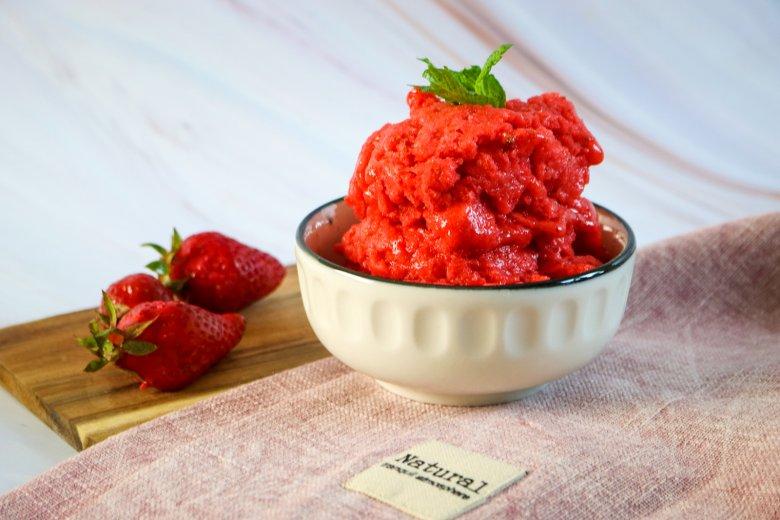 Erdbeer-Granité