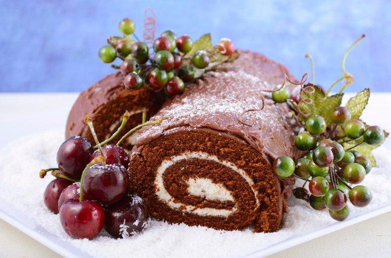 Yule Log Weihnachtskuchen