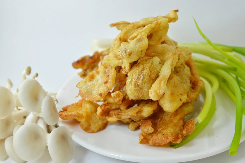 Frittierte Austernpilze