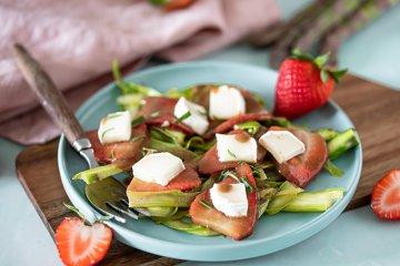 Erdbeer-Spargel-Carpaccio