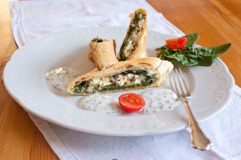Spinat-Schafskäse-Strudel