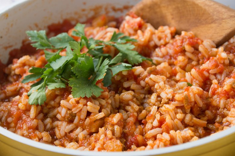 Reispfanne mit Tomaten