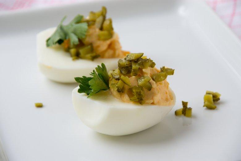Gefüllte Eier mit Frischkäse