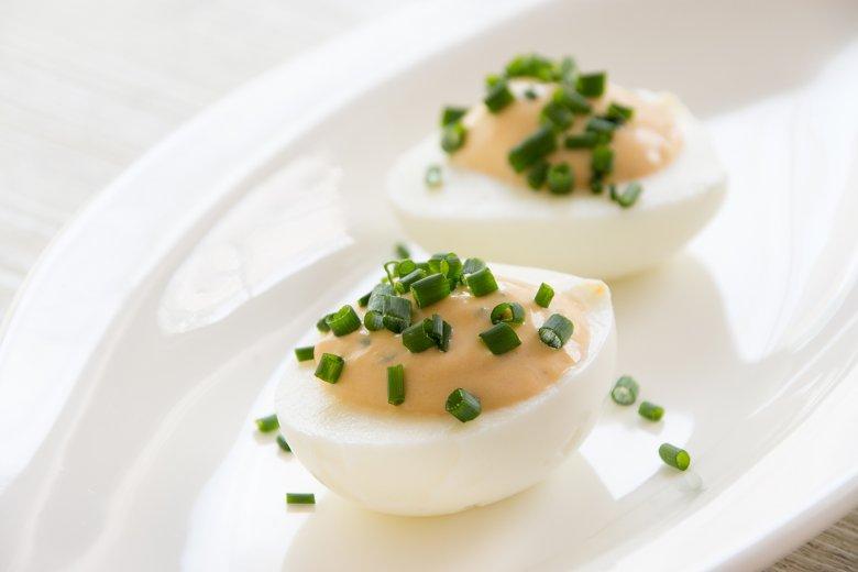 Gefüllte Eier mit Kräutercreme