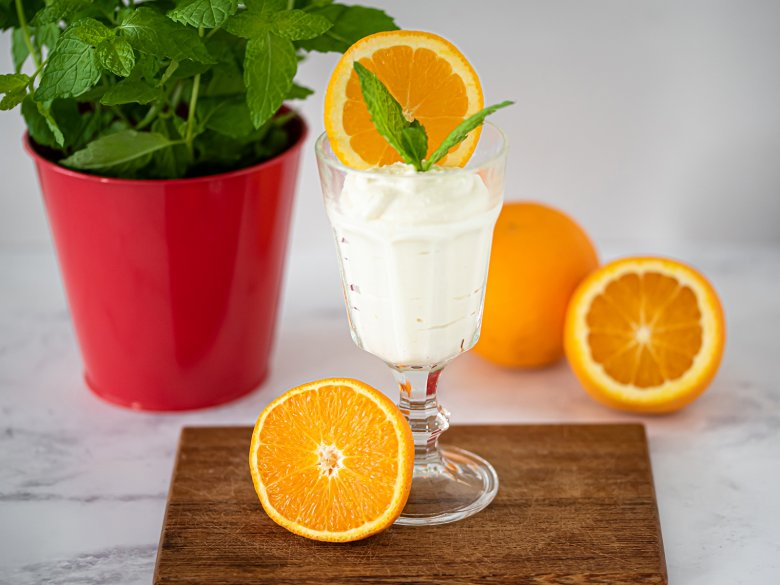 Orangencreme mit Quark