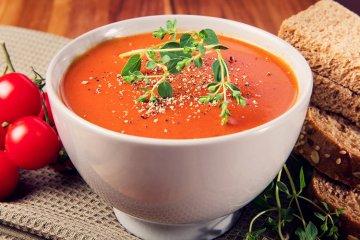 Einfache Tomatencremesuppe