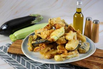 Zucchini-Auberginen-Tempura