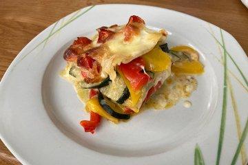 Gemüselasagne mit Zucchini