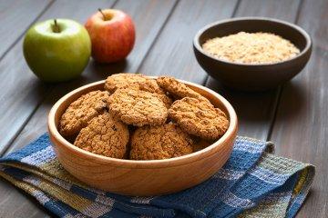 Apfel-Haferflocken-Kekse