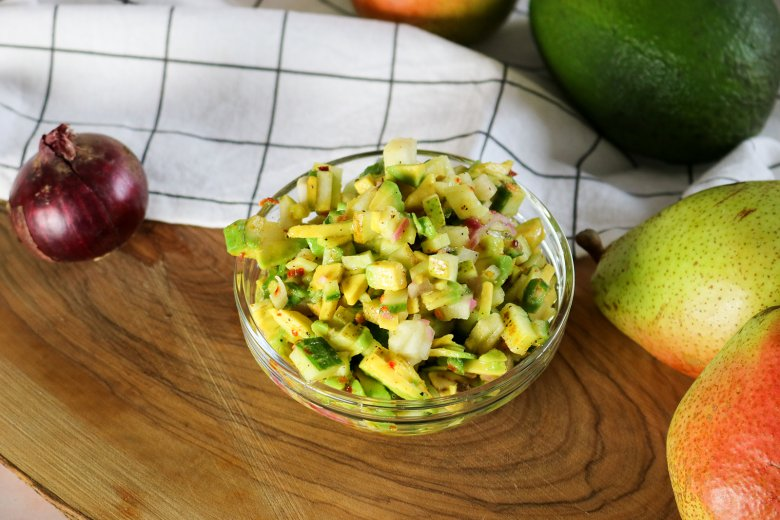 Avocado-Birnen-Tatar
