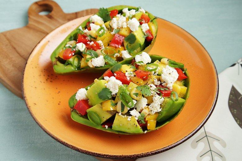 Gefüllte Avocado mit Feta