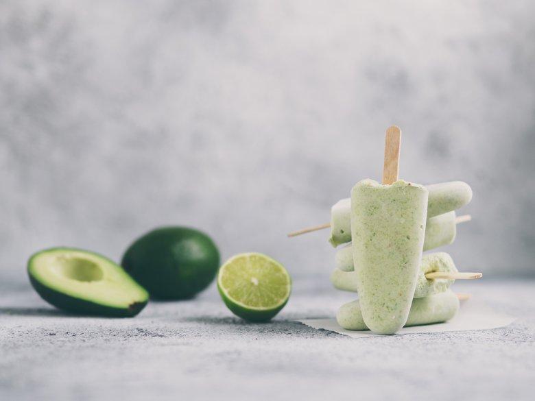 Avocado Eis mit Joghurt
