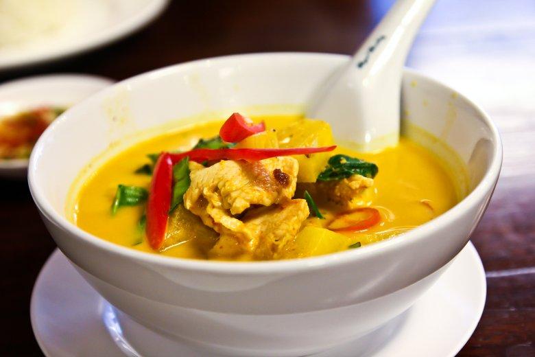 Gelbes Puten-Curry