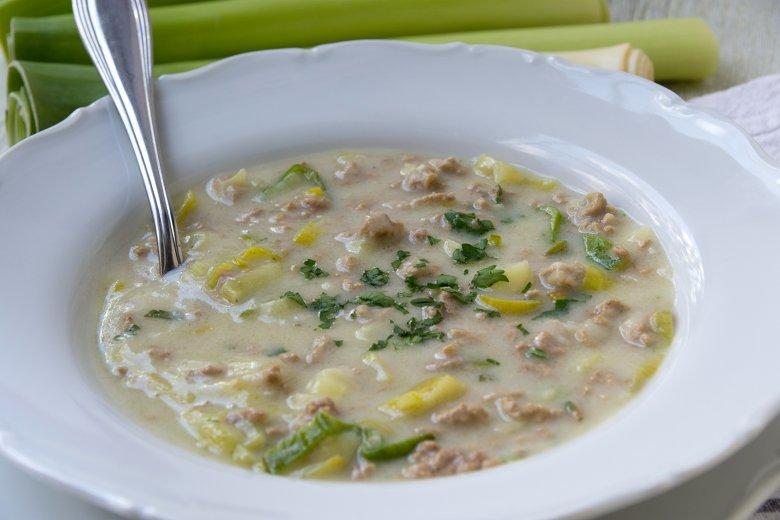 Schnelle Käse-Lauch-Suppe