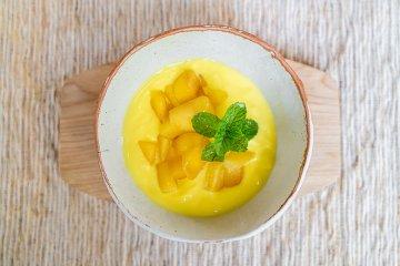 Mangocreme nach karibischer Art