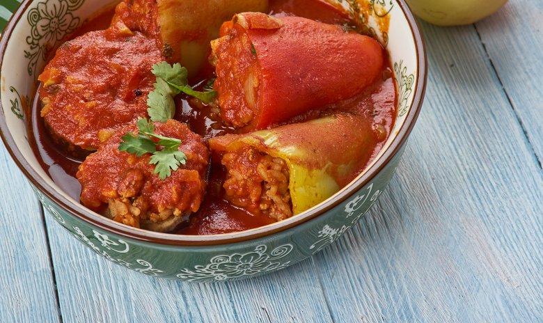 Gefüllte Paprika nach mazedonischer Art