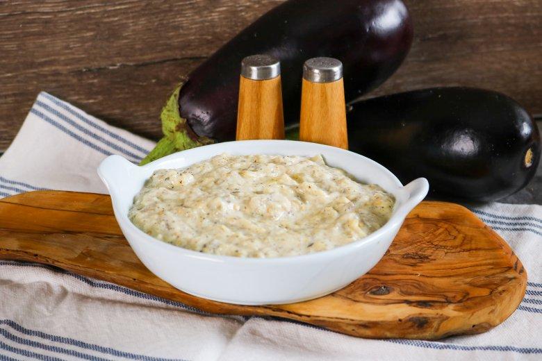 Auberginenmus mit Joghurt