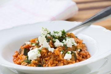 Zucchini-Reis-Pfanne
