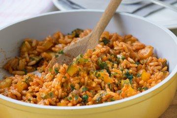 Zucchini-Tomaten-Reis