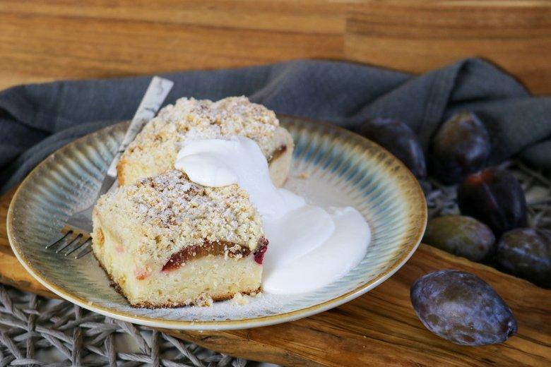 Pflaumenkuchen mit Butterstreuseln