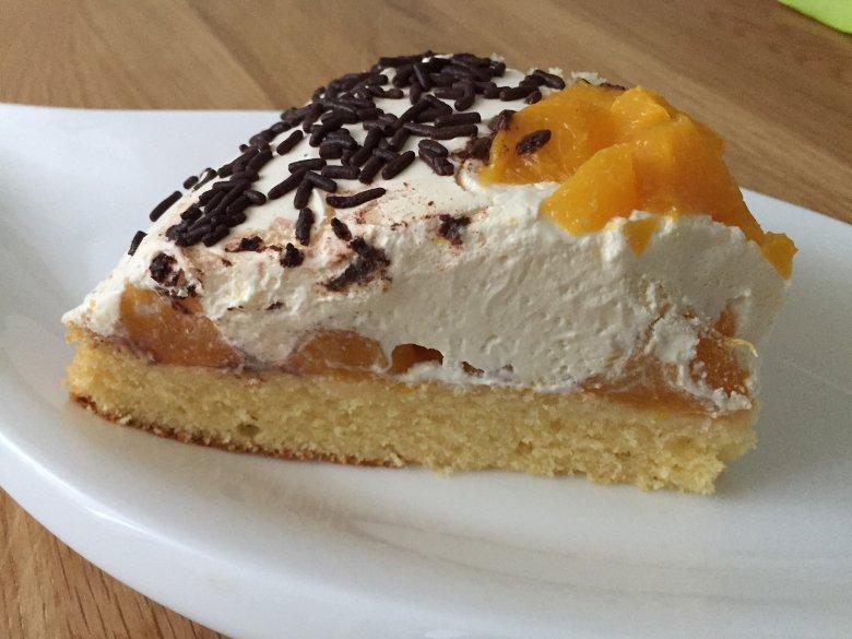 Pfirsich-Quark-Torte ohne Gelatine