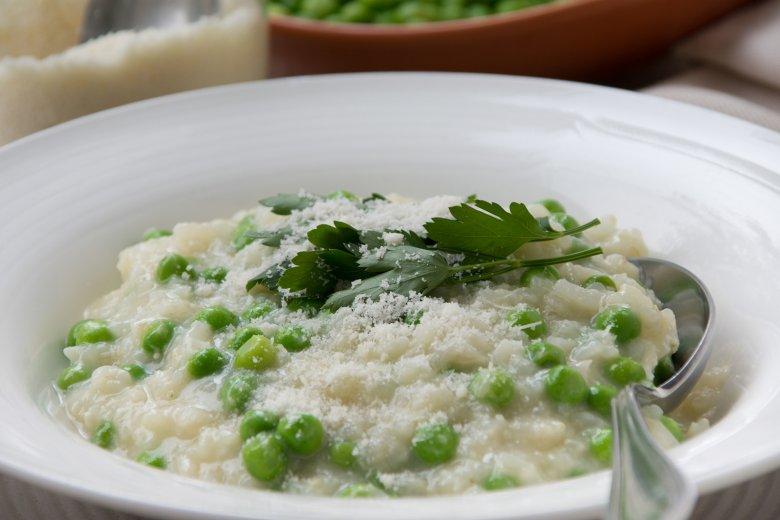 Erbsen-Risotto mit Parmesan