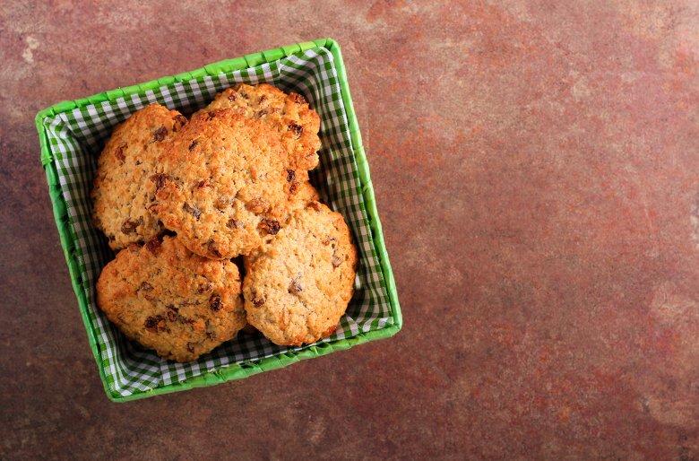 Haferflocken-Rosinen-Cookies