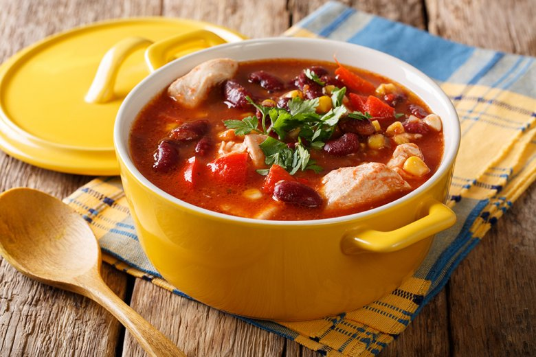 Chili mit Hühnerfleisch