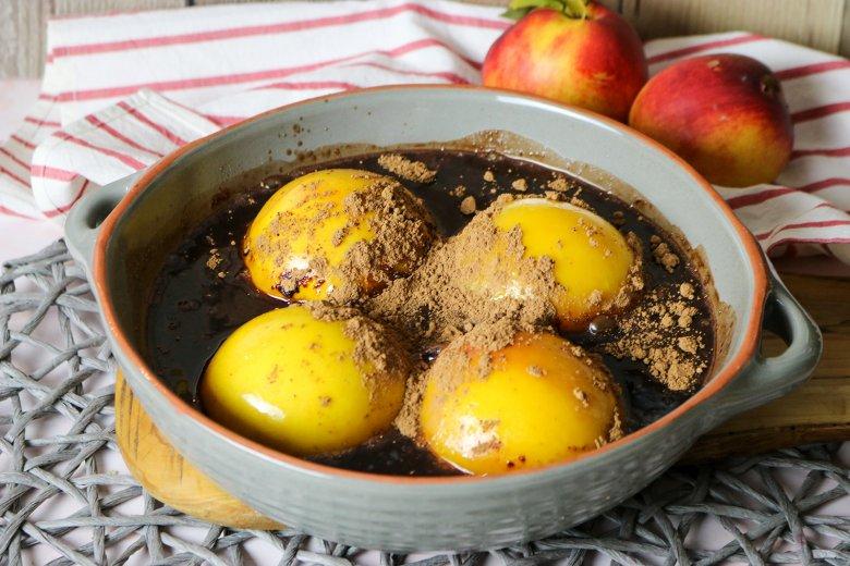 Pfirsiche in Marsala