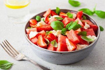 Melonen-Erdbeer-Salat