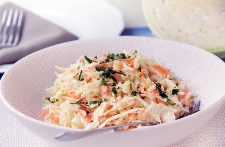 Weißkohlsalat mit Joghurtdressing