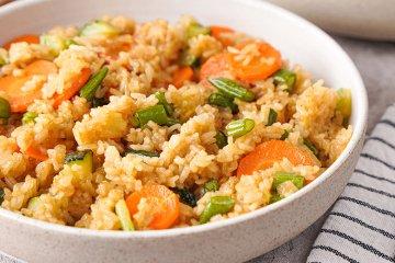 Gemüse Reis Wokpfanne