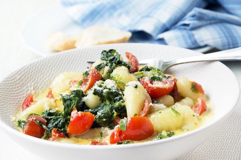 Gnocchi mit Spinat-Käse-Sauce