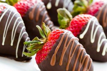 Getauchte Erdbeeren