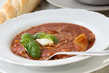 Lasagnesuppe mit Hackfleisch