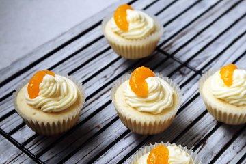 Cupcakes mit Mandarinen
