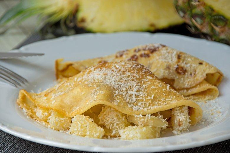 Ananas-Pfannkuchen