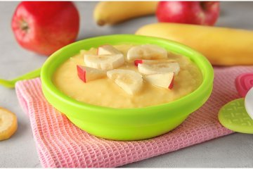 Banane-Apfelbrei
